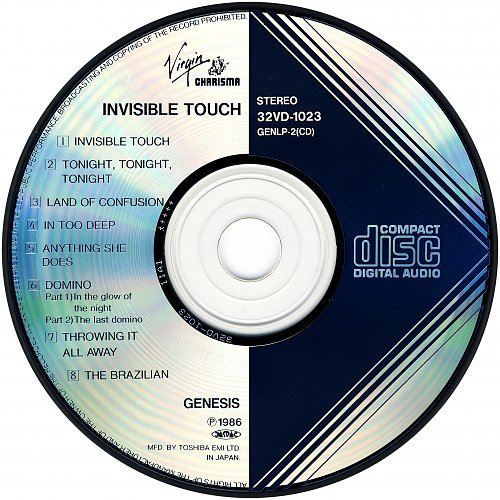 Genesis - Invisible Touch (1986 Virgin/Charisma Records, Toshiba EMI, Japan)