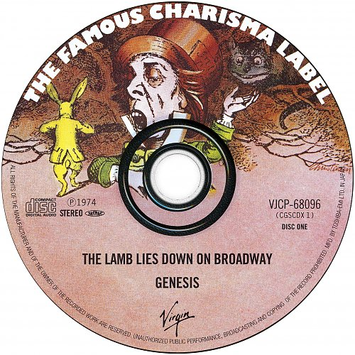 Genesis - The Lamb Lies Down On Broadway (1974 Virgin/Charisma; 1999 Toshiba-EMI Ltd., Japan) 2CD