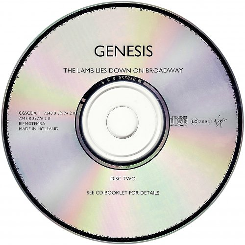 Genesis - The Lamb Lies Down On Broadway (1974, 1994 Virgin, Holland) 2CD