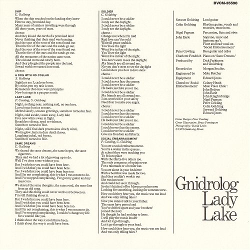 Gnidrolog - Lady Lake  (1972)