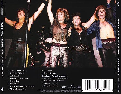 Bon Jovi-7800° Fahrenheit (Special Edition 2010)