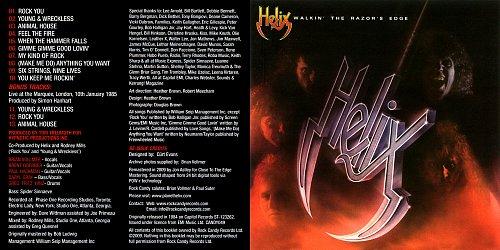 Helix - Walkin' The Razor's Edge (1984)