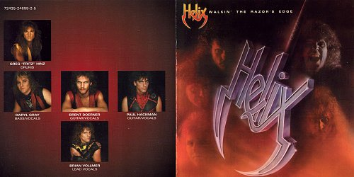 Helix - Walkin' The Razor's Edge (1984 Capitol Records Inc., EMI Music, Canada)