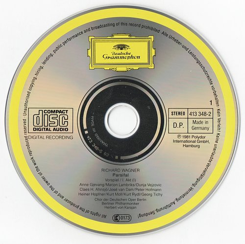 Wagner - Parsifal (Herbert von Karajan & Berliner Philharmoniker Orchestra) (1990)