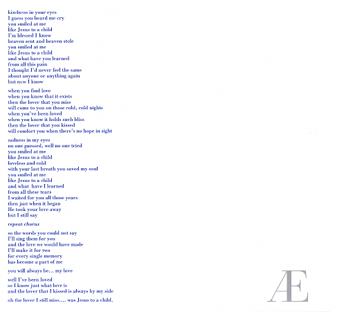 George Michael  Jesus To A Child Lyrics  MetroLyrics