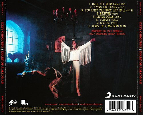 Ozzy Osbourne - Diary Of A Madman (1981, 2011 Sony Music Entertainment, Epic, Legacy, EU)