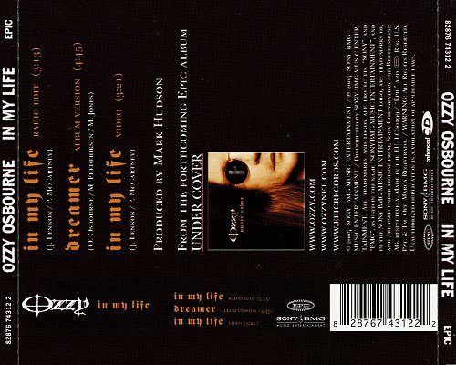 Ozzy Osbourne - In My Life (2005 Sony BMG Music Entertainment, Epic, EU)