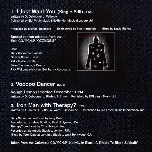 Ozzy Osbourne - I Just Want You (1994, 1995, 1996 Sony Music Entertainment, Epic, EU)