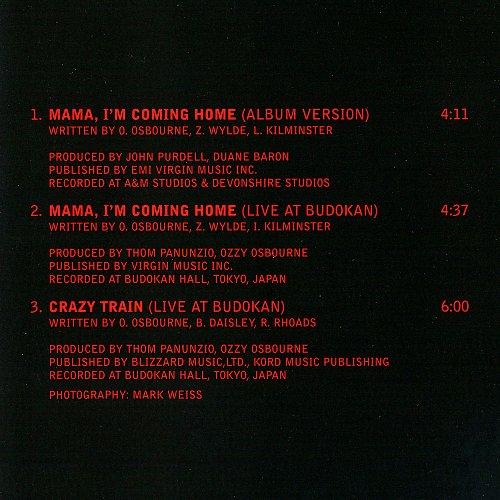 Ozzy Osbourne - Mama, I'm Coming Home (1991, 2003 Sony Music Entertainment, Epic, Austria)