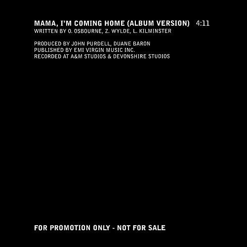 Ozzy Osbourne - Mama, I'm Coming Home (1991, 2002 Sony Music Entertainment, Epic, Austria)