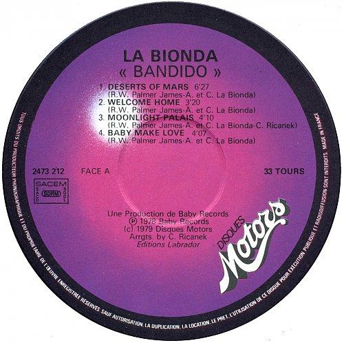 La Bionda - Bandido (1978)