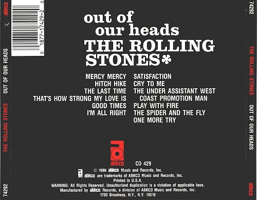 Rolling Stones, The - Out Of Our Heads (1965)