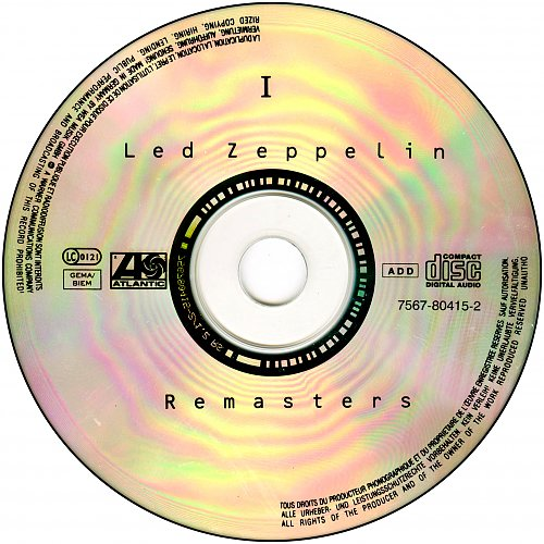 Led Zeppelin - Led Zeppelin Remasters 2xCD (1990 Atlantic, WEA, Germany)