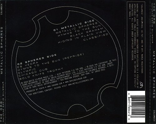 The Orb Featuring David Gilmour - Metallic Spheres (2010 Sony Music, Columbia, USA)