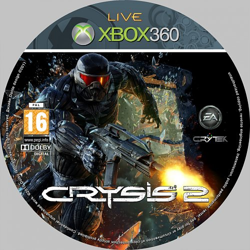 Crysis 2 X-BOX cover + disk