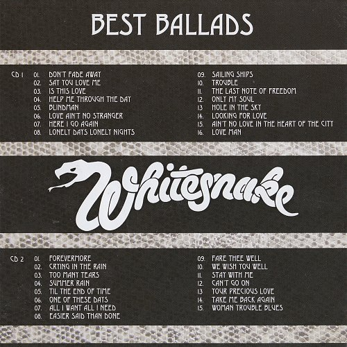 Whitesnake - Best Ballads (2014 HEC Music, HEC Enterprises Ltd., Evil EMI Records Ltd., EU)