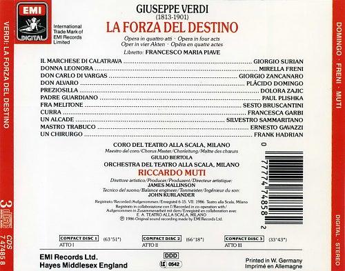 Giuseppe Verdi - La Forza del destino (1986)