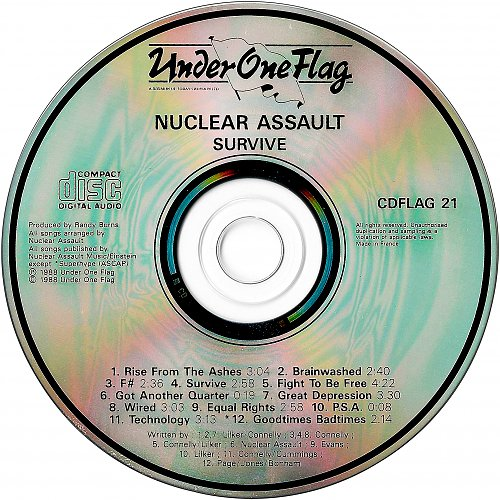 Nuclear Assault - Survive (1988 Relativity Records, Combat; Under One Flag, UK/France)