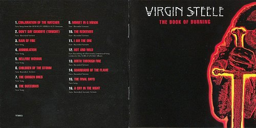 Virgin Steele - The Book of Burning (2001 T&T, Noise Records, Sanctuary Records, EU)