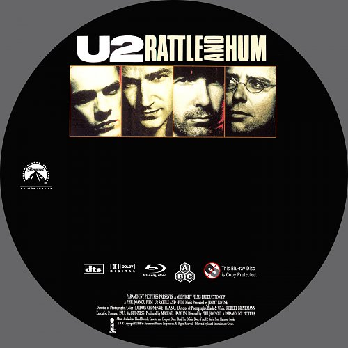 U2 RATTLE AND HUM Blu-ray