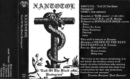 Xantotol - Cult Of The Black Pentagram (1993 Witching Hour Productions, Poland)