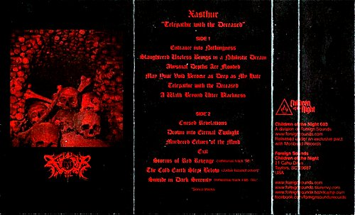 Xasthur - Telepathic With The Deceased (2004 Moribund Records; 2013 Children Of The Night, USA)
