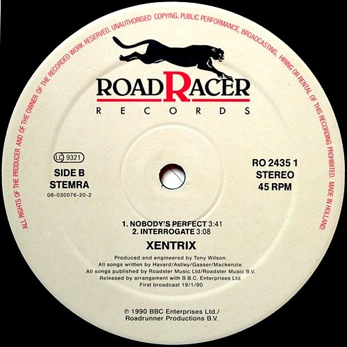 Xentrix - Ghost Busters (1990 Roadracer Records, Roadrunner, BBC Enterprises ltd., Holland)