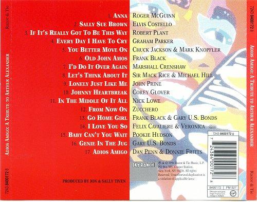 VA - Adios Amigo (A Tribute To Arthur Alexander) 1994