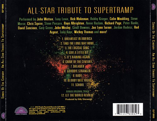 An All-Star Tribute To Supertramp - Song Of The Century - 2012