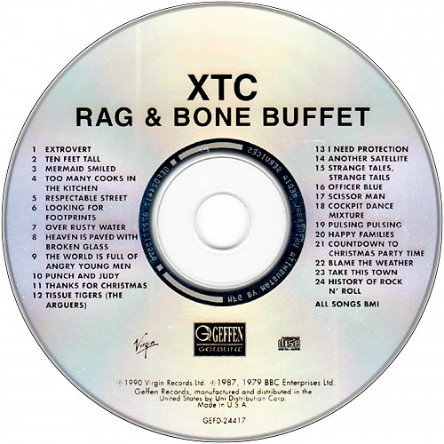 XTC - Rag & Bone Buffet (1979-1987 BBC Enterprises, 1990 Virgin Records, 1991 Geffen Records, USA)
