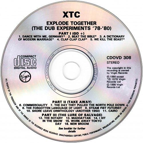 XTC - Explode Together: The Dub Experiments 78-80 (1990 Virgin Records Ltd., Nimbus, UK, EU)
