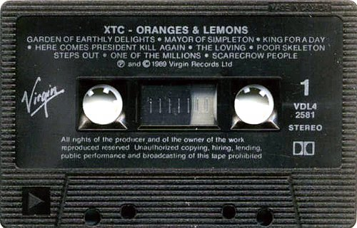 XTC - Oranges and Lemons (1989)