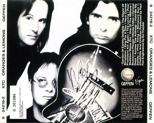 XTC - Oranges and Lemons (1989 Virgin Records Ltd., Geffen Records, Warner Bros., DADC, USA)
