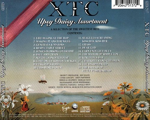 XTC - Upsy Daisy Assortment: A Selection Of The Sweetest Hits (1997 Virgin, Geffen Records, USA)