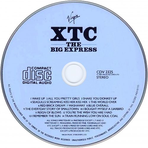 XTC - The Big Express (1984 Virgin Records Ltd., Holland, EU)