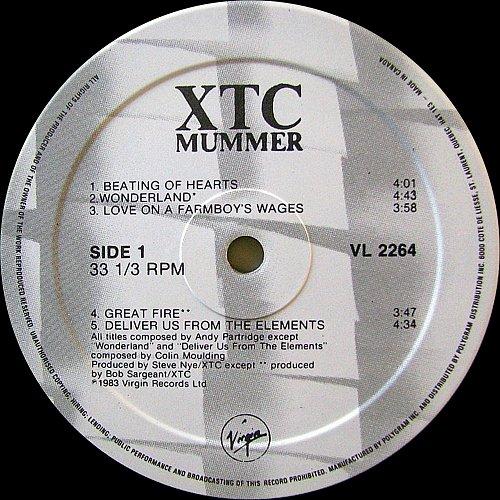 XTC - Mummer (1983 Virgin Records Ltd., PolyGram Inc., Canada)