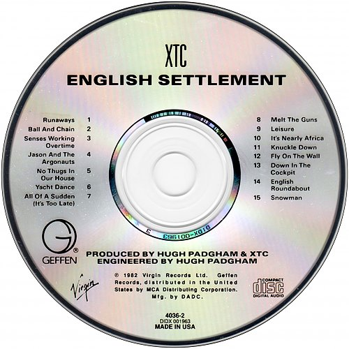 XTC - English Settlement (1982 Virgin Records, 1988 Geffen Records, Warner Bros., Matsushita, USA)