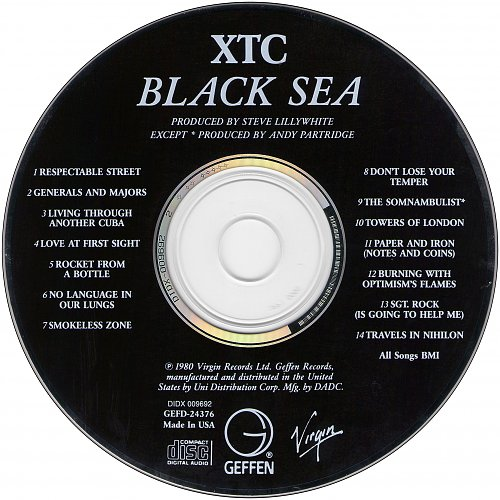XTC - Black Sea (1980 Virgin Records Ltd., 1991 Geffen Records, USA)