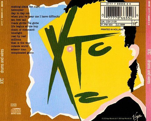 XTC - Drums And Wires (1979, 1985 Virgin Records Ltd., Holland)
