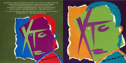 XTC - Drums And Wires (1979, 1985, 2001 Virgin Records Ltd., The Town House, EMI Uden, UK/EU)