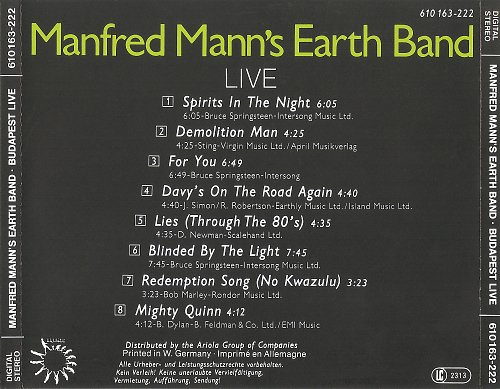 Manfred Mann's Earth Band - Budapest Live (1983)