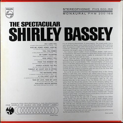 Shirley Bassey - The Spectacular Shirley Bassey (1965)