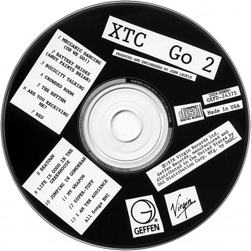 XTC - Go 2 (1978 Virgin Records Ltd., 1991 Geffen Records, Uni Distribution Corp., DADC, USA)