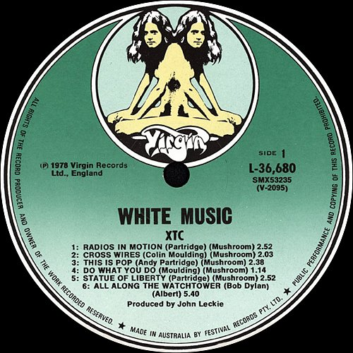 XTC - White Music (1978 Virgin Records Ltd., Festival Records Pty. Ltd., Australia)