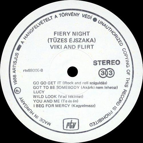 Viki & Flirt - Fiery Night (1988)