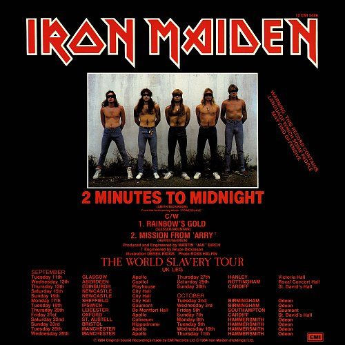 Iron Maiden - 2 Minutes To Midnight (1984) EP