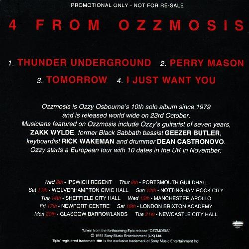 Ozzy Osbourne - 4 From Ozzmosis (CDS Promo) (1995)
