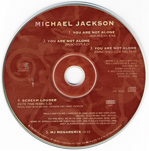 Michael Jackson - You Are Not Alone (Single) (1995)