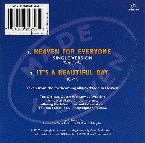 Queen - Heaven For Everyone (1995, Single)