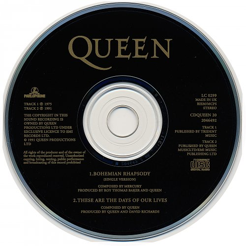 Queen - Bohemian Rhapsody (1991, Single)